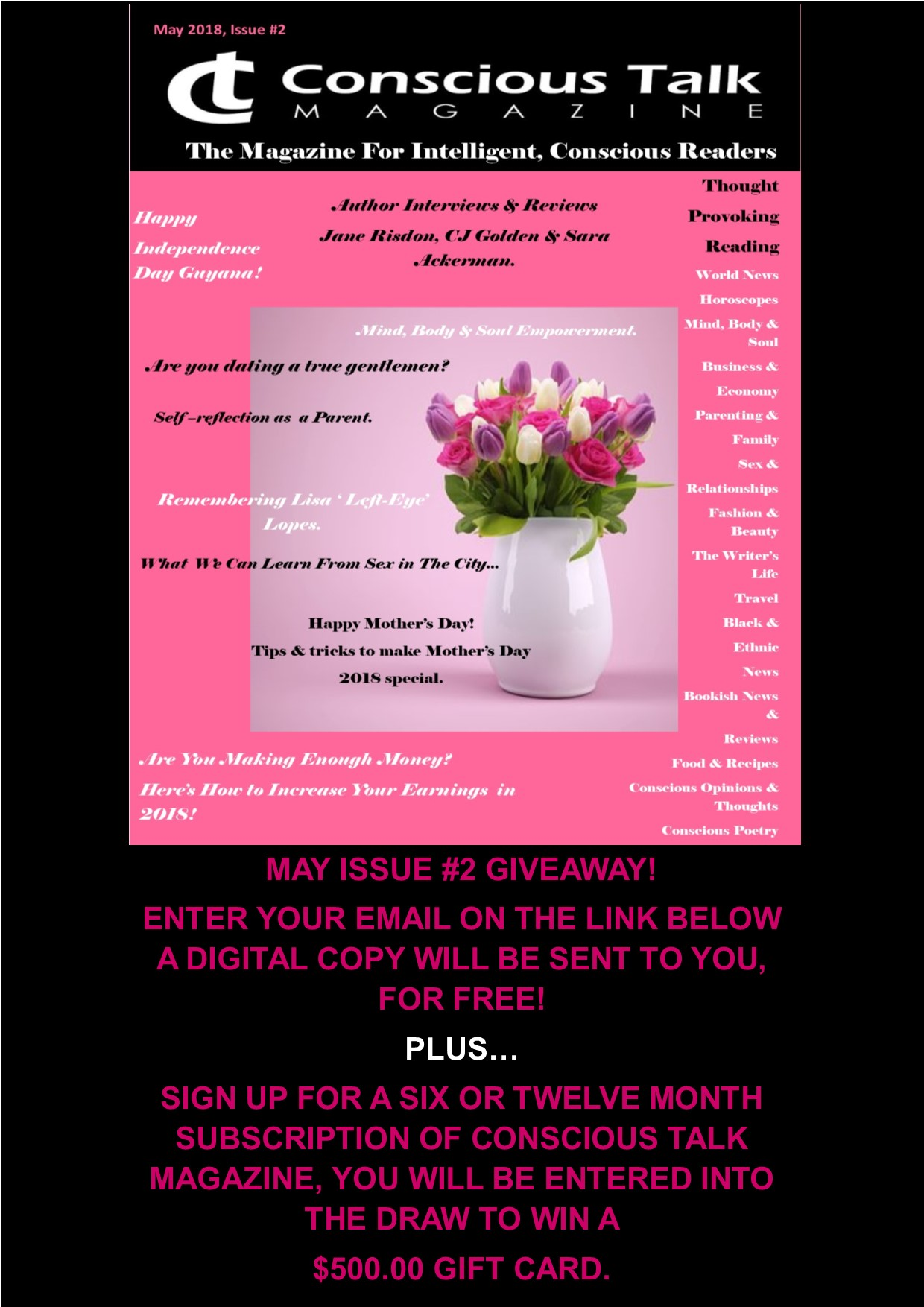 May Complimentary Issue Giveaway
